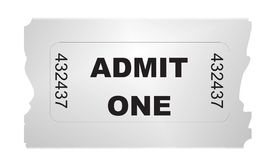 Ticket admit one gradient Stock Image