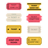 Ticket admit one set Stock Images