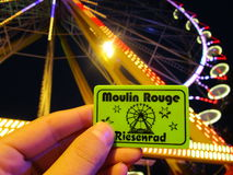 Ticket of the amusement park Royalty Free Stock Image