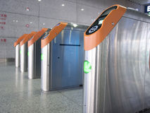 Ticket barrier. In High-speed railway station of South Nanjing Stock Image