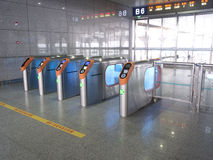 Ticket barrier. In High-speed railway station of South Nanjing Stock Images