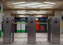 Ticket barriers Stock Images