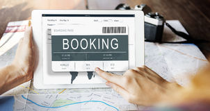 Ticket Booking Journey Travel Trip Concept Royalty Free Stock Image