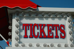 Ticket Booth. Booth to purchase tickets for carnival rides Royalty Free Stock Image