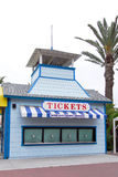 Ticket Booth. At amusement park before opening time Royalty Free Stock Images