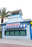 Ticket Booth. At amusement park before opening time Royalty Free Stock Image