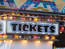 Ticket Booth. For the arcade of a neighborhood carnival. Generic  at the fair Stock Photography