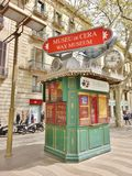 Ticket booth in Barcelona, Spain - for Wax Museum Royalty Free Stock Photography