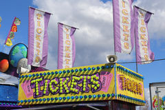 Ticket Booth at a Carnival Stock Images