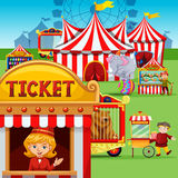 Ticket booth at the carnival Royalty Free Stock Photography
