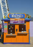Ticket booth at Coney Island Luna Park in Brooklyn stock images