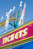 Ticket booth at the fair stock images