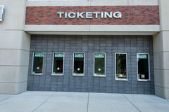 MSU Ticket booth. Ticket booth at the Michigan State University football stadium stock photography