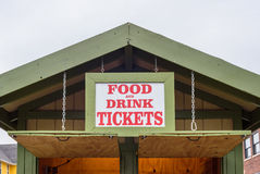 Ticket booth at summer festival Royalty Free Stock Photos