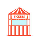 Ticket box office. Vector illustration isolated on white background royalty free illustration