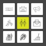 Ticket, breifcase , speaker, message , love letter ,stiars , mo. M , earings , icon, vector, design, flat, collection, style, creative, icons - This Vector EPS stock illustration