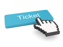 Ticket Button and Cursor Stock Images