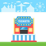Ticket cart or booth Stock Images