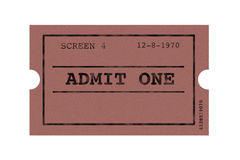 Ticket cinema Stock Image