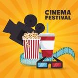 Ticket cinema movie icon. Vector illustration eps 10 Royalty Free Stock Photography