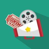 Ticket cinema movie icon. Vector illustration eps 10 Royalty Free Stock Image