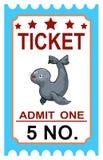 Ticket circus seal Stock Photos