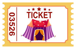 Ticket circus tent Stock Photography