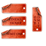 Ticket collection Stock Image