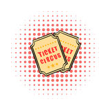 Ticket comics icon. On a white background Stock Photography