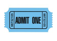 Ticket concept 3d illustration Stock Photography