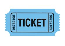 Ticket concept 3d illustration Royalty Free Stock Image