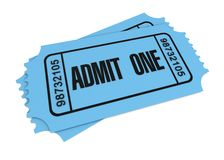 Ticket concept 3d illustration Stock Photos