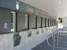 Ticket Counter. An Empty ticket counter for a sports stadium Stock Photos