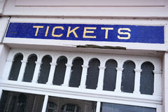 Ticket counter Royalty Free Stock Photos