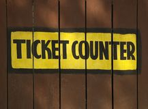 Ticket Counter Royalty Free Stock Photography