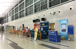 Ticket counters at the airport in Phu Quoc, Vietnam Stock Image
