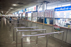 Ticket counters at Mo Chit bus station Royalty Free Stock Photo