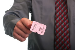 Ticket with coupon Royalty Free Stock Image