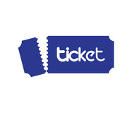 Ticket Design Concept Stock Images
