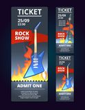 Ticket design template of music event.   Royalty Free Stock Photography