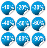 Ticket discount Stock Photography
