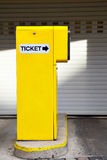 Ticket dispenser. At a parking lot entrance Royalty Free Stock Photo