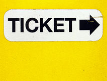 Ticket dispenser 2. Parking garage dispenser arrow Stock Photos