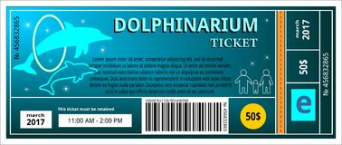 Ticket dolphinarium Stock Photo