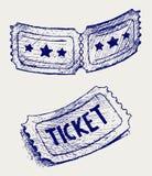 Ticket. Doodle style stock illustration