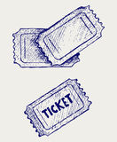 Ticket. Doodle style Stock Images