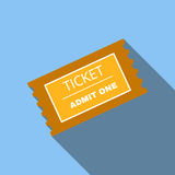 Ticket flat icon. For web and mobile device Stock Photography