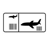 Ticket flight isolated icon Stock Images