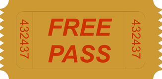 Ticket free pass Royalty Free Stock Image