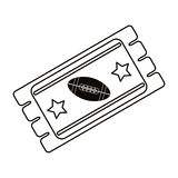 Ticket game american football icon outline Royalty Free Stock Photo